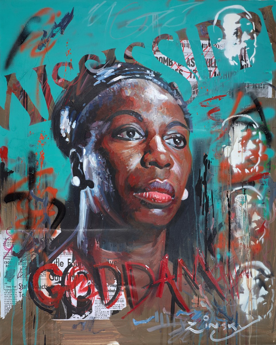 Nina Simone by zinsky -  sized 25x32 inches. Available from Whitewall Galleries